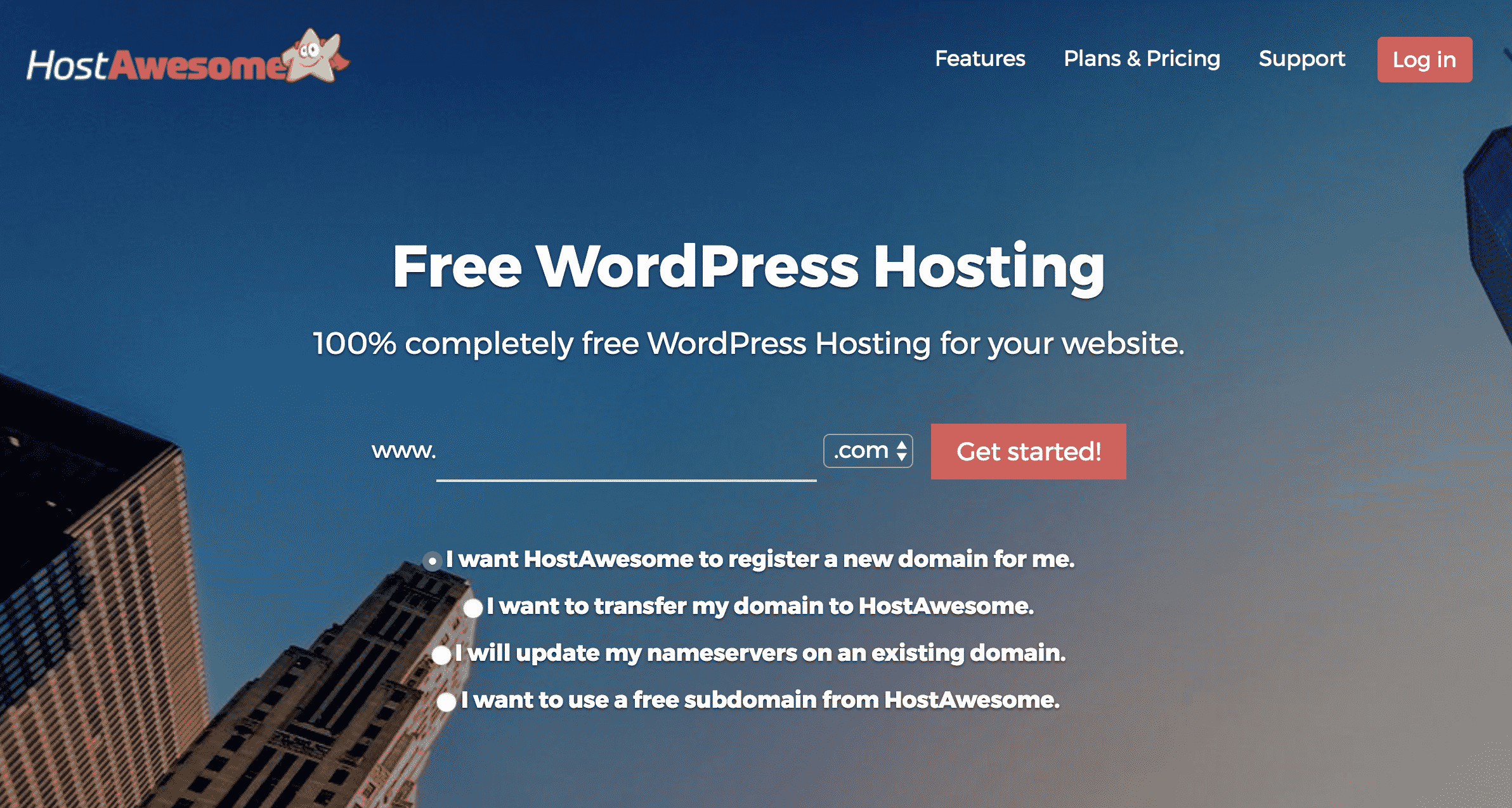 Host Awesome Free WordPress Hosting