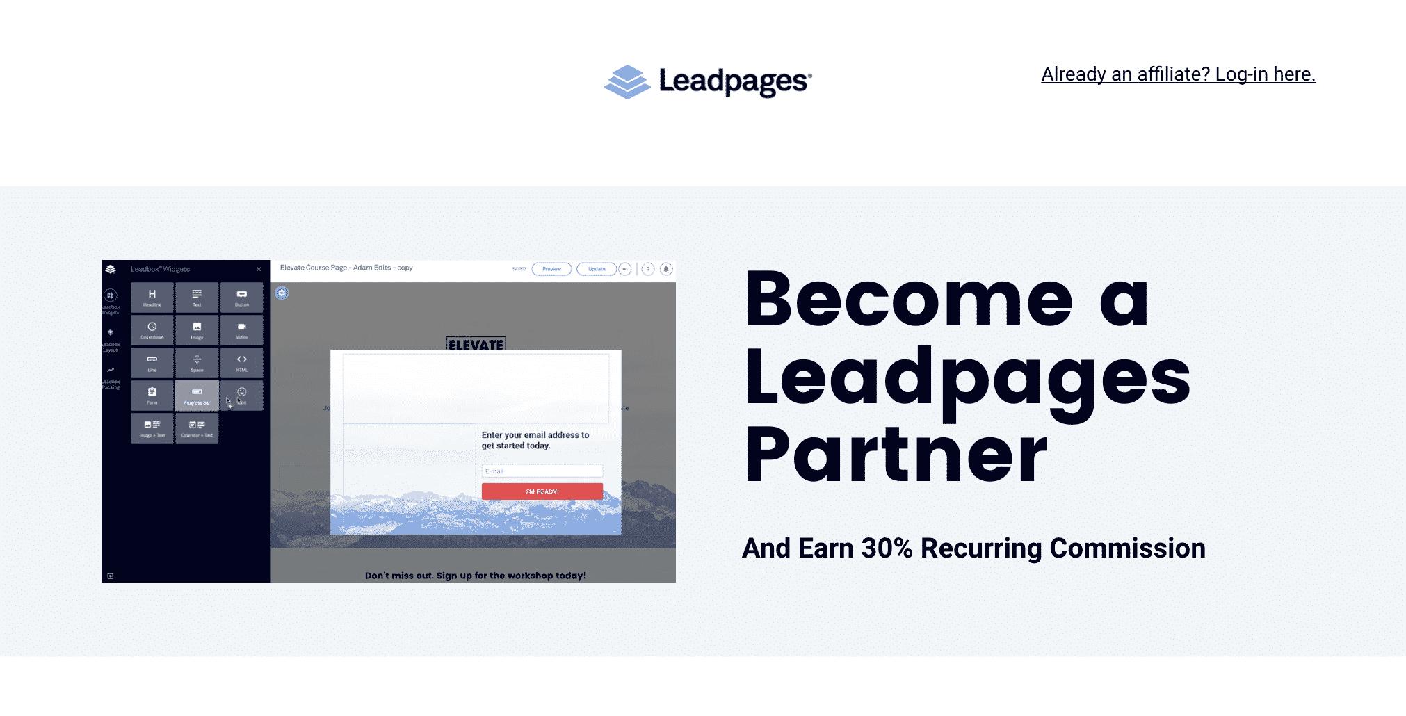 Leadpages Partner Program