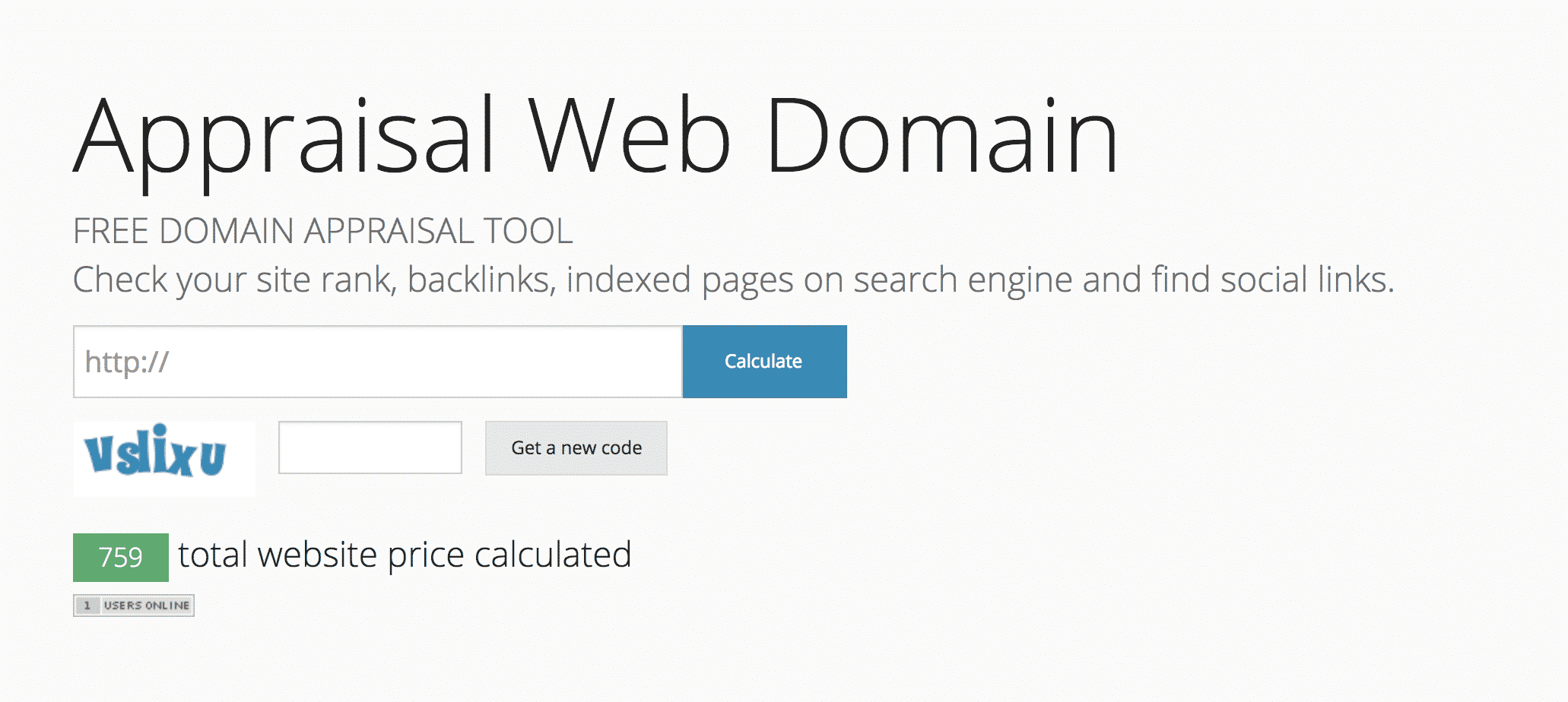 Appraisal Web Domain