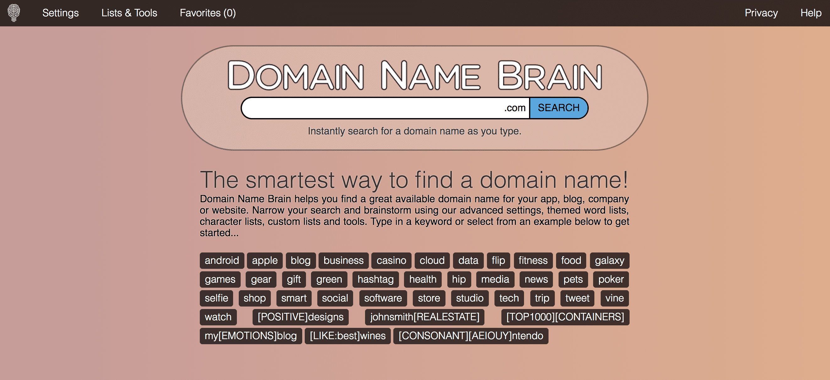 Domain Name Brain