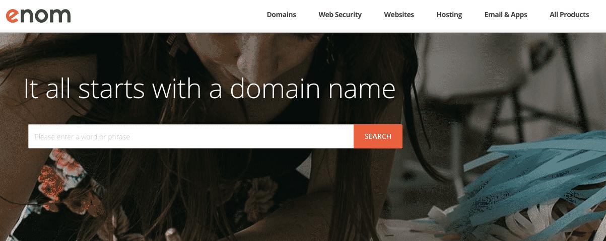 Enom Domain Registrar