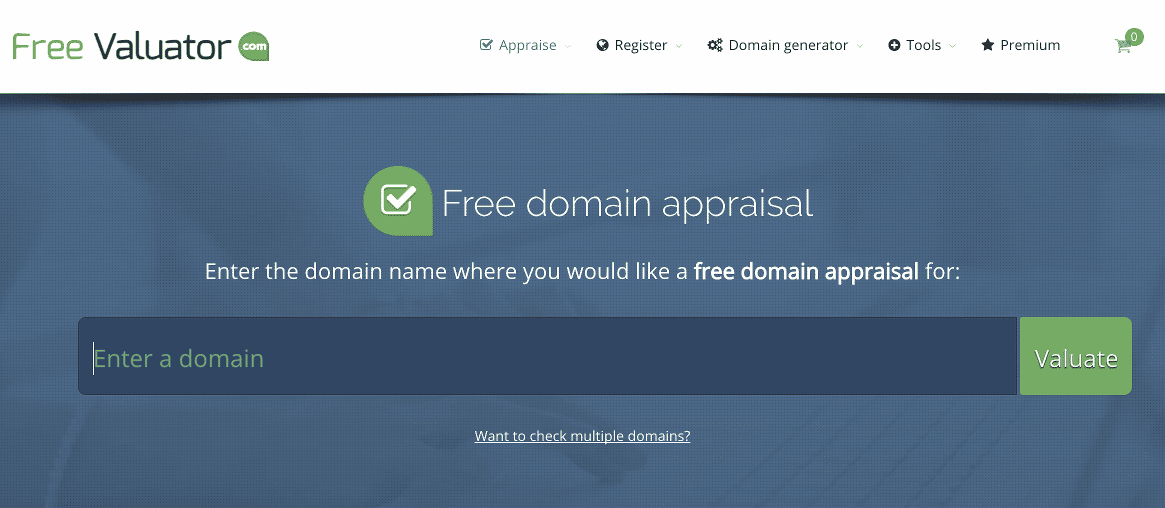 Free Valuator - Domain Name Valuation Tool
