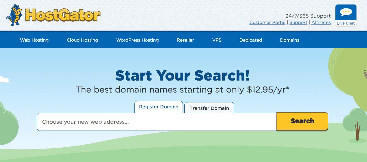 Hostgator Register a Domain