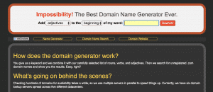 Impossibility Blog Name Tool