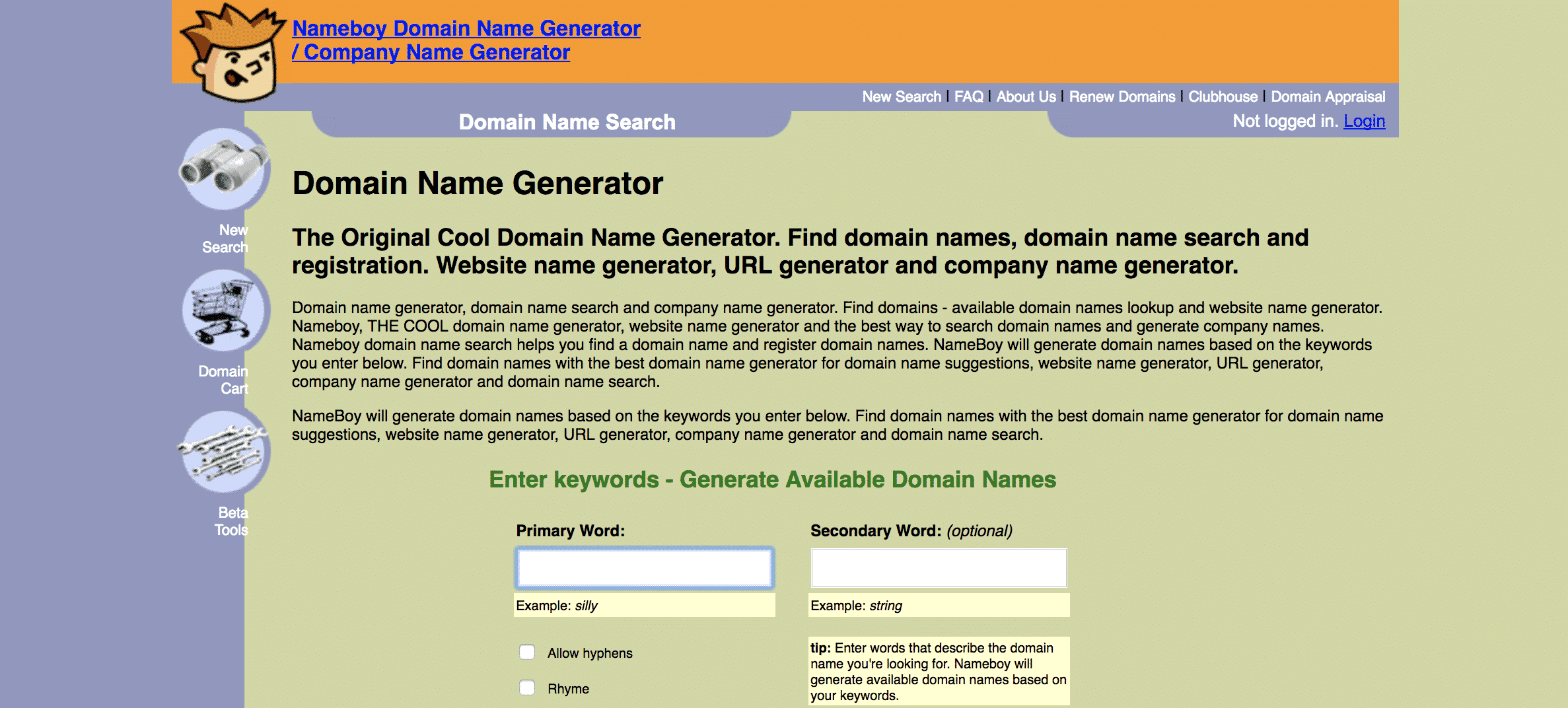 Nameboy Blog Name Generator