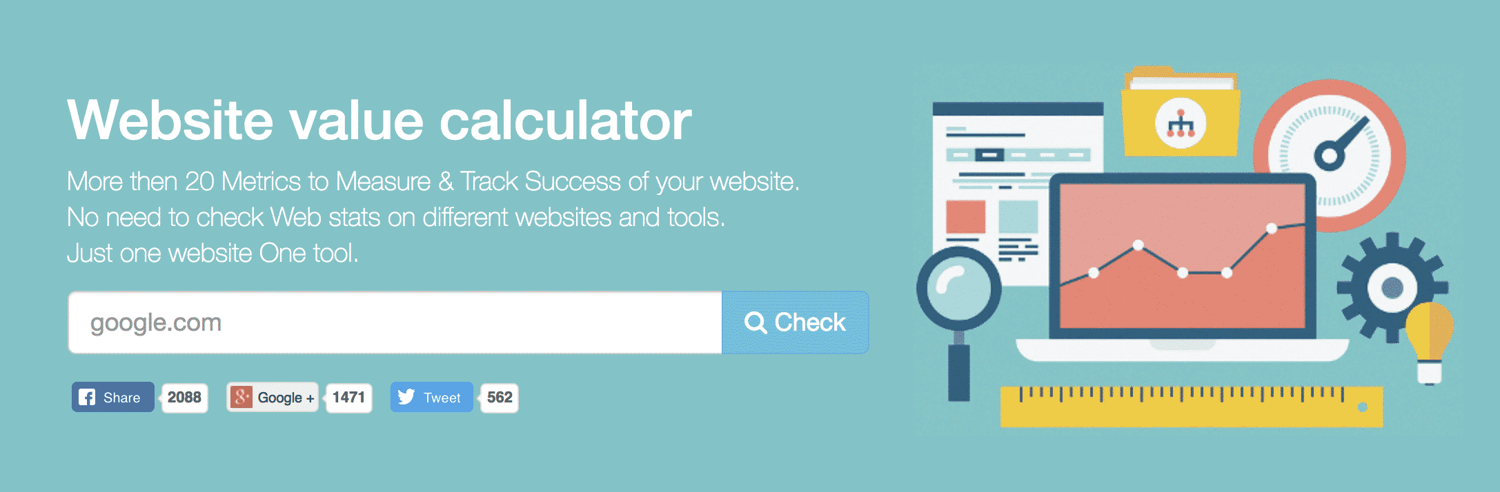 Website Outlook - Domain Valuation Tool