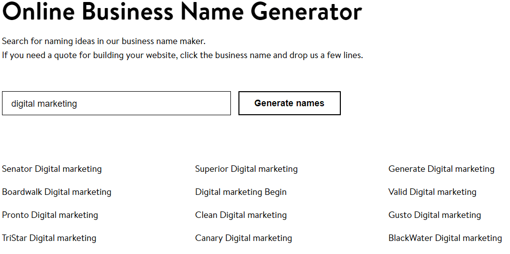 15 Best Business Name Generator Tools for 2019 | Solvid