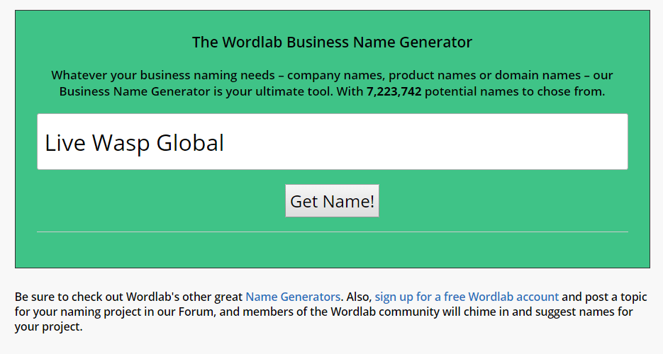 15 Best Business Name Generator Tools for 2020 Solvid
