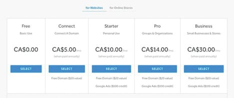weebly-prices