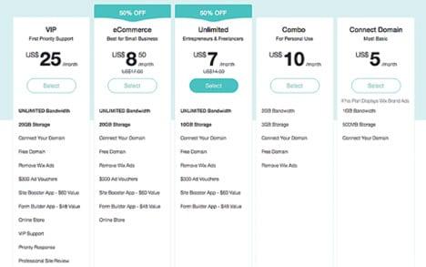 wix-prices