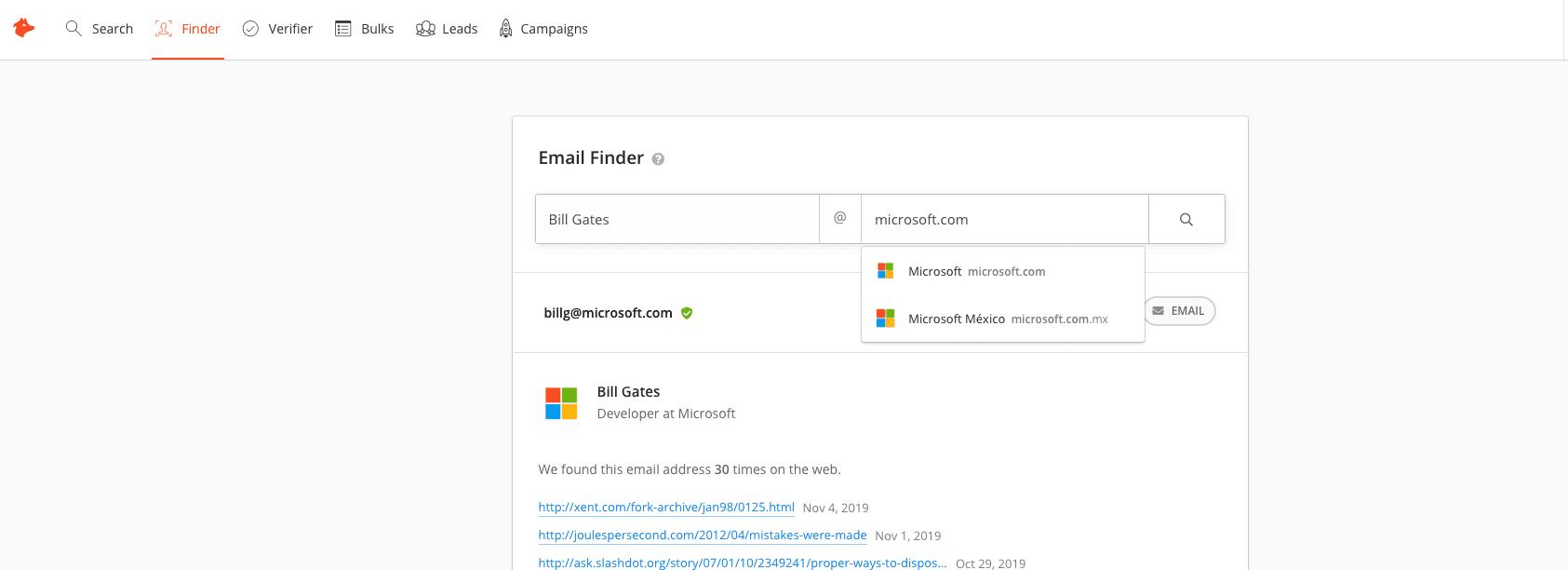 Bill Gates Microsoft Email