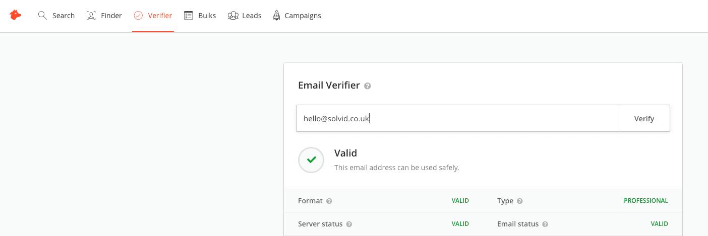 Email Hunter Verifier