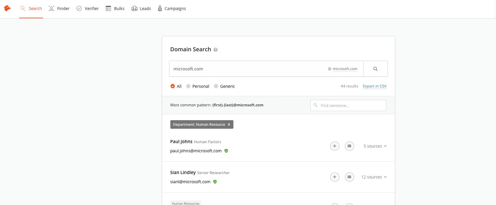 Microsoft HR Email Finder